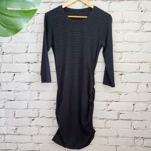 Lululemon Anytime Dress  Black Stripe Vitasea